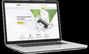 UnoEuro nye hjemmeside på en bærbar